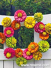 Summery Christmas wreath