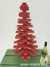 Make an wooden christmas tree