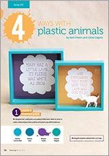 4 creative things to do with plastic animals
