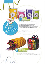 4 fun ideas for decorating tin cans