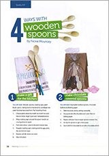 Kids projects using wooden spoons