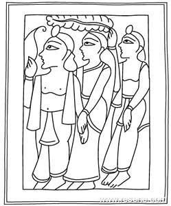 Diwali colouring in picture to download