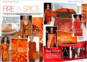 Fire and spice – fiery colour palette from Apparel magazine