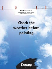 Check the weather before painting